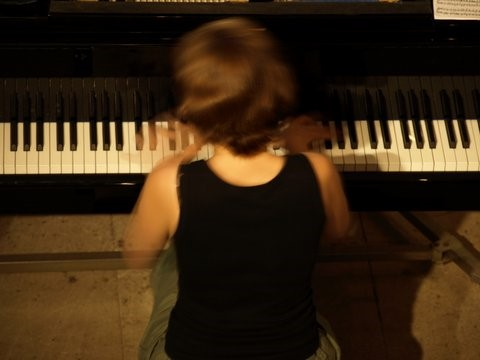me playing the piano in rehearsal